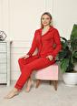 Akbeniz Pijama Takım Kırmızı